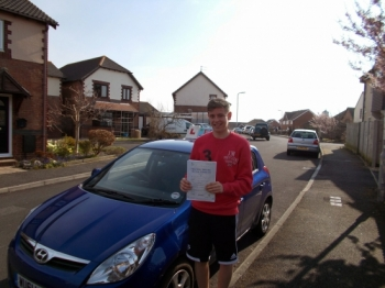 CALLUM HAYES PASSED WITH ZERO FAULTS