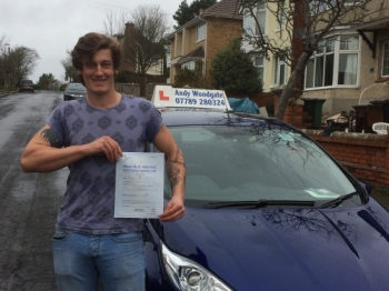 CONGRATULATIONS CAMERON - ONLY 2 MINOR FAULTS