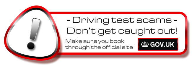 Don't get scammed! book your theory or driving test in Weymouth on the .gov site